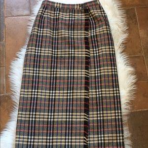 Evan Picone plaid mid length skirt Sz 12